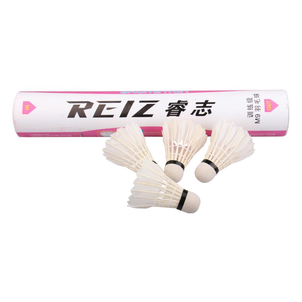Free Shipping 12pcs/lot High Quality 12Pcs Training White Teal Feather Badminton Shuttlecocks Wholesale M9(China (Mainland))