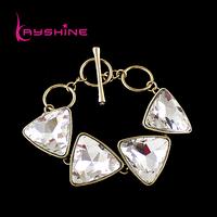 Whole Sale Popular Jewelry Big Triangle Rhinestone Luxury Statement Bangles and Bracelet For Women