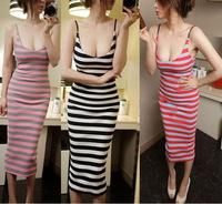 Free Shipping 2014 provisions of new Europe sexy low cut Halter slim slim bag hip nightclub dress base sundresses