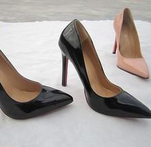 bombas de las mujeres 2014 de 12 cm de ultra tacones altos tacones delgados del ol del dedo del pie puntiagudo Bombas color nude moda de las mujeres de color caramelo sexy para las mujeres(China (Mainland))