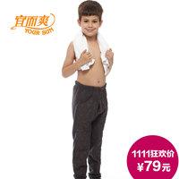 Male large children plus velvet thickening kneepad warm pants plus velvet super soft breathable skin-friendly thickening
