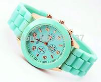New Fashion Geneva Quartz Sports Watches Lady Crystal Silicone Watch Jelly watch women wristwatches relogio feminino