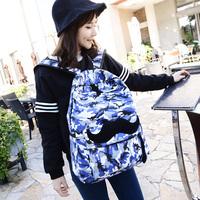 2014 New Korean cool women fashion leopard moustache canvas backpack school backpacks women travel bags free shipping