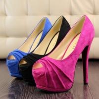 Drawn grain High Heels Flatform Wedding Shoes Cute Bow Pumps Free Shipping