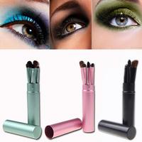 5PCS/Set Professional Pony Hair Eye Makeup Tool Eyeshadow Brushes Set Cosmetic Kit with Round Tube MAKE UP FOR YOU CZ6002