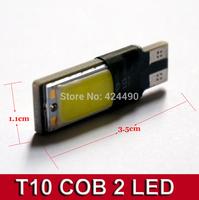 10PCS T10 Canbus 194 168 2825 COB LED Car Brake Clearance Light W5W Wedge Backup Reverse lamp