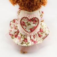 Armi store Pet Dog Floral Pattern Princess Dress 71006 Dog Fashion Dresses Free Shipping