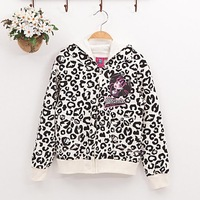 Girl's Clothes Retail New 2014 Baby Girls Hoodies Outerwear Children Long Sleeve Fashion Kids Cartoon HoodIed Sweatshirts