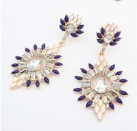 Double-sided Matte Pearl Beads Classic Bubble Head Mirror Earrings