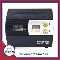 NEW micro air pump 12v car auto electric compressor portabl air pump 12V car hit the pump aerators compressor inflatable pump