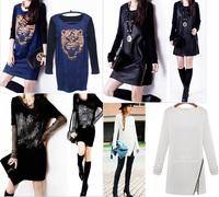 2014 Winter Dress Fashion Women Dress long Sleeve  casual dress plus size women clothing vestido de festa