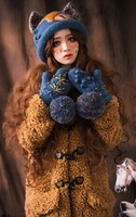 2014 winter Ancient sweet style Scraf and hat &Glove set
