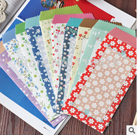 Wholesale,(100 Sheets/Lot) 10 Styles 19.3*8.7 CM DIY Scrapbooking Paper Flowers Envelopes Wedding Envelope Gift Envelopes