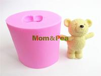Mom&Pea 0397 Free Shipping Bear Silicone Soap Mold Cake Decoration Fondant Cake 3D Mold Food Grade Silicone Mould