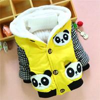 4pc/lot winter kids coats panda baby clothing boys outerwear children jackets factory panya dzj95
