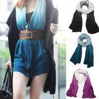 AC467 Modern Fashion magic 7 ways oversized cashmere Women Big Size scarves Winter shawls blue black purple