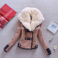 Free Shipping!!  Autumn Winter Women Coat Woolen Down Jacket Rabbit Fur Coat Plus Size Spring Outerwear Overcoat