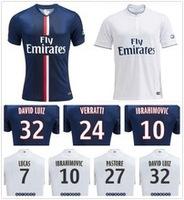 Fans Player Version Zlatan Ibrahimovic Jersey Soccer Top AAA+++ Thailand Quality Maillot de foot Lucas Cavani Football Jersey