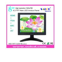 alibaba  express! 8   inch  hdmi  monitor  lcd with HDMI /AV/VGA/BNC input for Surveillance +1080p HDMI