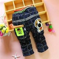 4pc/lot kids pants winter thicken baby jeans cotton padded kids  denim trousers children cloting factory panya dzj107