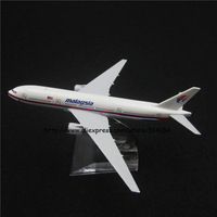 16cm Alloy Metal Air Malaysia Airlines Airplane Model Boeing 777 B777 Airways Plane Model w Stand Aircarft Toy Gift