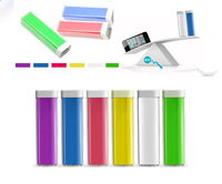 Newest Lipstick Power bank 2600mAh portable USB External Backup Battery 18650 usb Powerbank for mobile phone 300pcs 9 colors