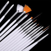 Free Shipping New Designed DIY Nail Painting Pen Brush For Decoration Nail Tools 15 PCS Makeup Brushes DGCZ6009