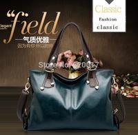 2014 new women Messenger bag with wax leather handbags brand fashion leather hand shoulder bag Messenger Handbag //Free Shipping