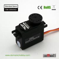 DOMAN RC DM-S0606D 40g/0.14s/5.5kg.cm POM gear 360degree robot used 6kg digital servo