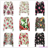 New Arrive Women Sweater Winter&Autumn New Korea Style Casual Floral Slim Knitted Cotton Jacket Knitwear k4674/k4767...
