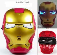 Cool Hero Mask Ironman Kids & Adult LED Glowing Iron Man Party Masks Halloween Cosplay Gift