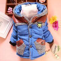 3PC/lot baby boys jackets winter 2014 new kids outerwear cotton-padded hoodies wholesale factory PANYA DZJ26
