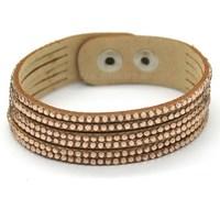 1Pcs Free Shipping Champagne Rhinestone Bracelet & Leather Bracelet Popular Weaving Charm Fashion Jewelry Wholesale