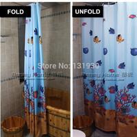 19 SIZES High quality 130g/m2 terylene cloth shower curtain waterproof thickening fashion bathroom shower curtain SCBN009
