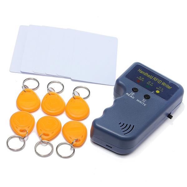 Радиочастотная идентификация переносной 125 кГц EM4100 карточка удостоверения личности копировальная машина писатель дубликаторы с 6 записи теги + 6 записи карты