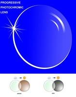 1.61 Progressive multi-focal and Photochromic resin lenses bi prescription lenses without line myopia/presbyopia high quality