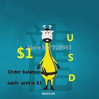 Order balance each unit is $1.