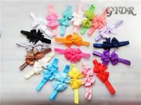 New 2014 hot sale Baby Bow Headband Hair Bowknot Headbands Infant Hair Accessories Girls Bow Headband Toddler hair bands