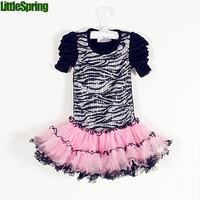 Ballet Layered Dress Kids Girls Zebra Dress Vestidos De Menina Vestidos Infantis Meninas Vestir  kids dresses for Girls CW-20