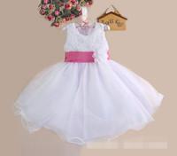 Hu Sunshine wholesale 2014 fashion Summer girl dress sleeveless Rose Dress Girls ball gown Princess Party Formal DressZLF111014H