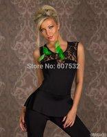 New style Black Women Bodycon Jumpsuits Rompers Bodysuit Outfits Women Elegant Peplum Jumpsuit Women Clothes