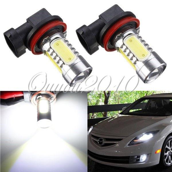 Free Shipping 2pcs/lot H11 7.5W High Power COB LED Bulb Car Auto DRL Projector Driving Fog Lights Lamp Headlight Xenon White 12V(China (Mainland))