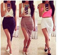 2015 New Arrived Women Sexy Skirts Nice Design Asymmetrical Skirts Brand Women Skirts