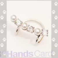 11.11 shipping jewelryversion of delicate fresh personality arc rhinestone Pearl fashion fashion jewelry brincos stud earrings D