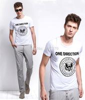 Free shipping Fashion T Shirt Men Hip Hop One Direction Cotton T-shirt 1D Rock Roll Shirts Harry Niall Short Sleeve Size S-2XL