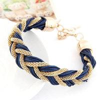 2015 3 colors Korean Fashion Elegant ladies Simple wild metal chain rope preparation Bracelets Accessories for women Z&E2111