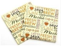 [4 packs]  100% original pulp eco-friendly creative paper napkins colorful printed napkin cocktail napkins -Z4NC271
