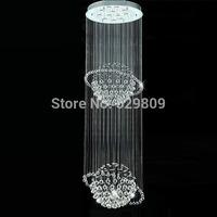 Modern Luxury Double balls Crystal Chandelier Pendant Hanging Lamp Crystal Lighting Fixtures Home Decorative Luminiare