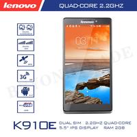 Original Lenovo K910E Quad Core Android 4.4 SmartPhone Qualcomm Snapdragon 800 5.5'' HD Screen 2GB RAM 16GB ROM 13.0MP Camera