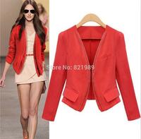 New high-end women's coat double zipper short paragraph small suit jacket